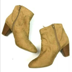 Chinese Laundry Shoes - Chinese Laundry Tan Suede Fringe Ankle Booties 9